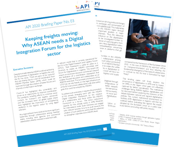 API 2020 Briefing Paper No. 03- Keeping freights moving: Why ASEAN needs a Digital Integration Forum for the logistics sector