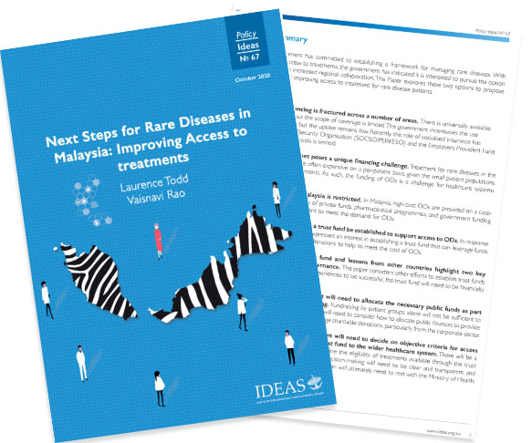 Policy Paper No 67 – Next Steps for Rare Diseases in Malaysia: Improving Access to treatments